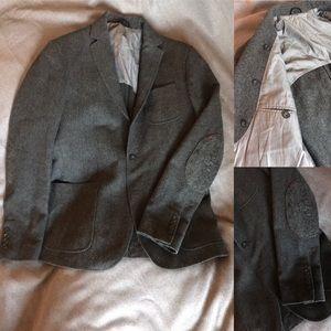 Other - HAMAKI-HO wool blazer grey, elbow pads urban wear